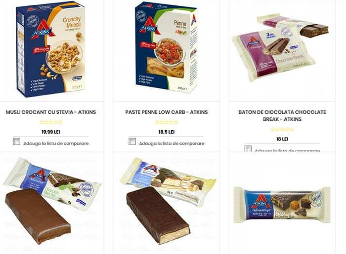 Dulciuri/Carbohidrati permisi in Dieta Atkins