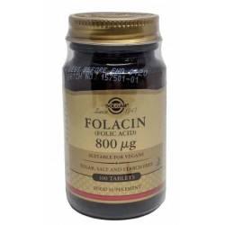 folacin acid folic 800ug 100tb solgar pret