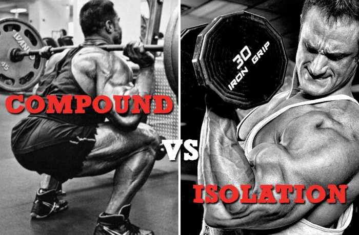exercitii compuse si de izolara pentru masa musculara
