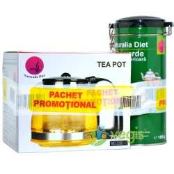 pachet promo ceai verde si ceainic